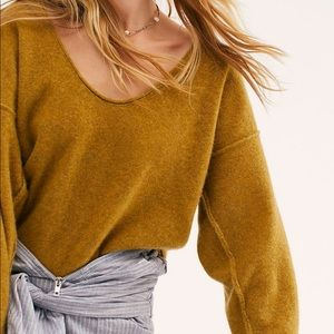 Free People Always Cashmere V-Neck Sweater